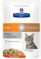 - Hill's Prescription Diet K/D + Mobility Pouch 85 gr kattenvoer 12 zakjes