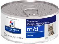 - Hill's Prescription Diet M/D 156 gr blik kattenvoer 1 tray(24 blikken )