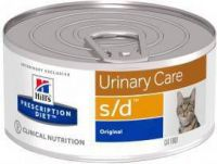 - Hill's Prescription Diet S/D 156 gr blik kattenvoer 3 trays(72 blikken )