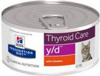 - Hill's Prescription Diet Y/D Blikken kat 1 tray(24 blikken )