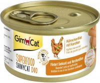 - Gimcat Superfood Shinycat Duo 70 g Kipfilet&Wortel - Kattenvoer
