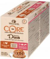 - Wellness Core Duos Land&Sea Selection Multi - Pack Mix 6x79 g - Kattenvoer