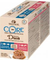 - Wellness Core Duos Seafood Selection Multi - Pack Mix 6x79 g - Kattenvoer