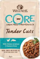 - Wellness Core Tender Cuts 85 g Kip&Zalm - Kattenvoer
